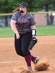 Stuarts Draft's Loryl Kennedy delivers a pitch during