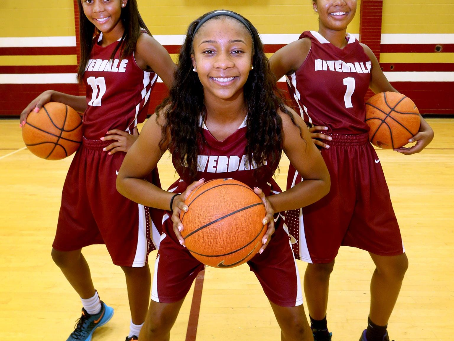 The Hayes sisters (L to R) Aislynn Hayes, Sophomore at Riverdale, Anastasia Hayes, Senior at Riverdale, on Thursay, Aug. 11, 2016.