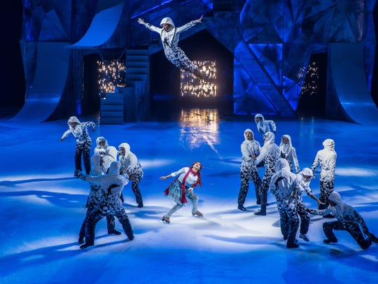 A scene from Cirque du Soleil's new ice-skating show,