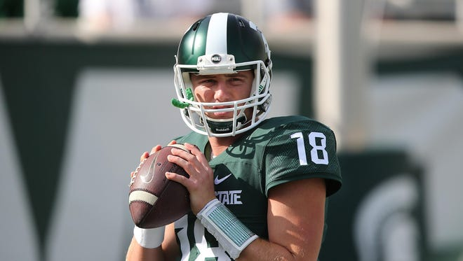 Connor Cook has thrown nine TD passes (vs. one interception) and has a 151.5 efficiency rating through four games.