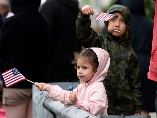Genevieve Pagan, 3, and her brother Manuel Pagan, 7,