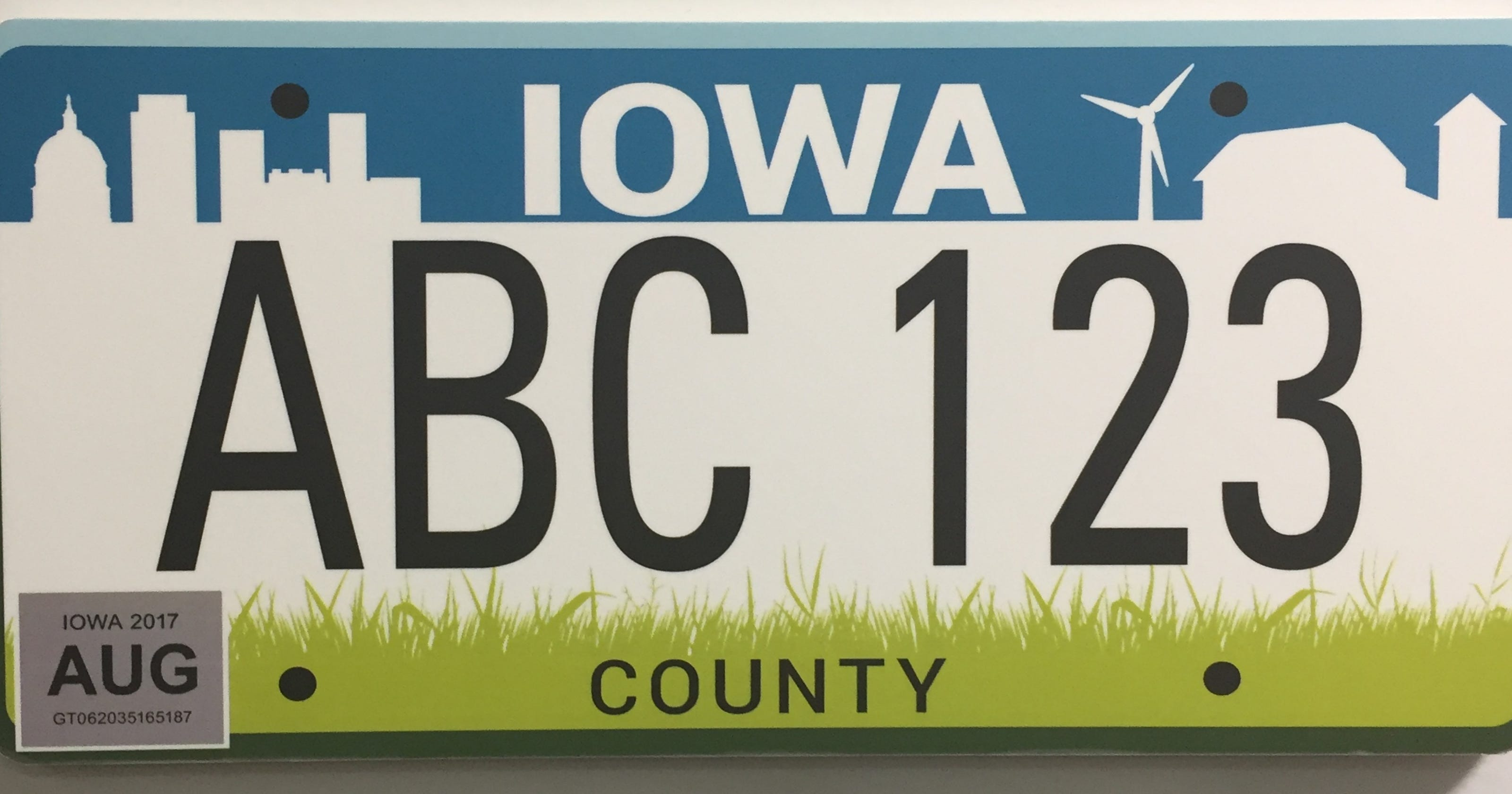 How the Iowa DOT rules on personalized license plates