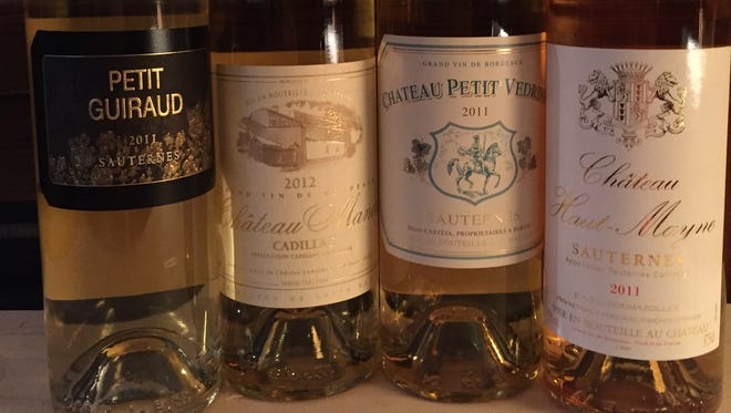 These sweet wines pair well with appetizers or desserts.