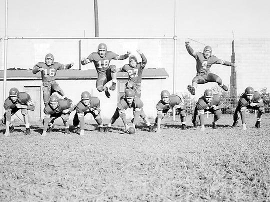 Vineland's 1954 football team.