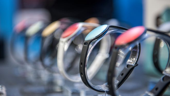 Misfit Wearables Shine fitness and sleep monitors.