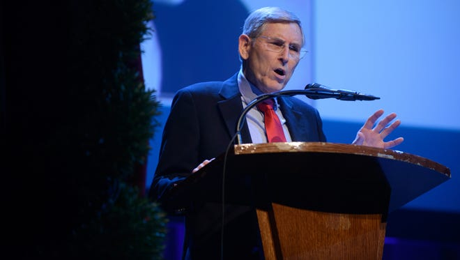 Historian Rick Warwick treats the audience to some amazing stories as The Heritage Foundation celebrates it's 50th anniversary with a special event at the Franklin Theater in Franklin, Tenn. on Nov. 12, 2017.