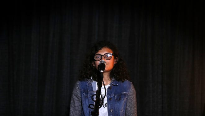 Paloma Rambana participates in the Tallahassee Democrat  Storytellers Project, sponsored by Envision Credit Union, at the Junction on Monroe Tuesday, May 15, 2018.