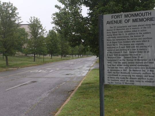 Fort Monmouth's Avenue of Memories, Thursday, May 21, 2015, in Oceanport, NJ.