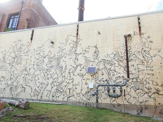Rolf & Daughters Mural; artist: Shantell Martin