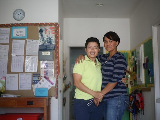 Rosalva Isidoro, 34, and her partner of nine years, Sandra Andrade, 34, both grew up in the eastern Coachella Valley and have struggled with being open as a lesbian couple.