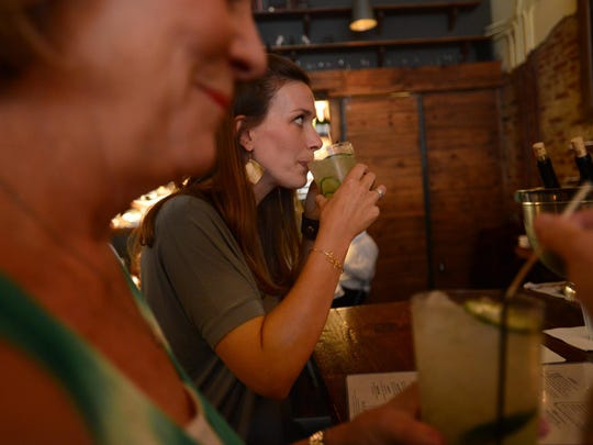 After some tests and a CT scan at Duke University Hospital, Lindsey Motley and her mother have dinner at Mateo Bar de Tapas in Durham, N.C.