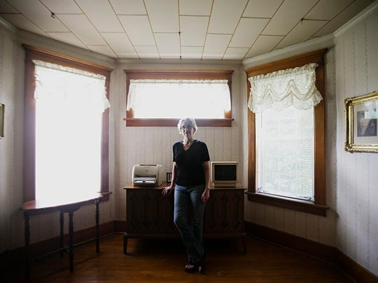Jody Ewing at her home in Onawa on Thursday, June 25, 2015. Ewing is the founder of Iowa Cold Cases, a website dedicated to cold cases around the state.
