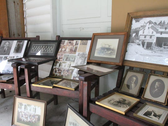Stacks of photos from throughout the Duddlestons' 70-year occupancy of the Halsey House.