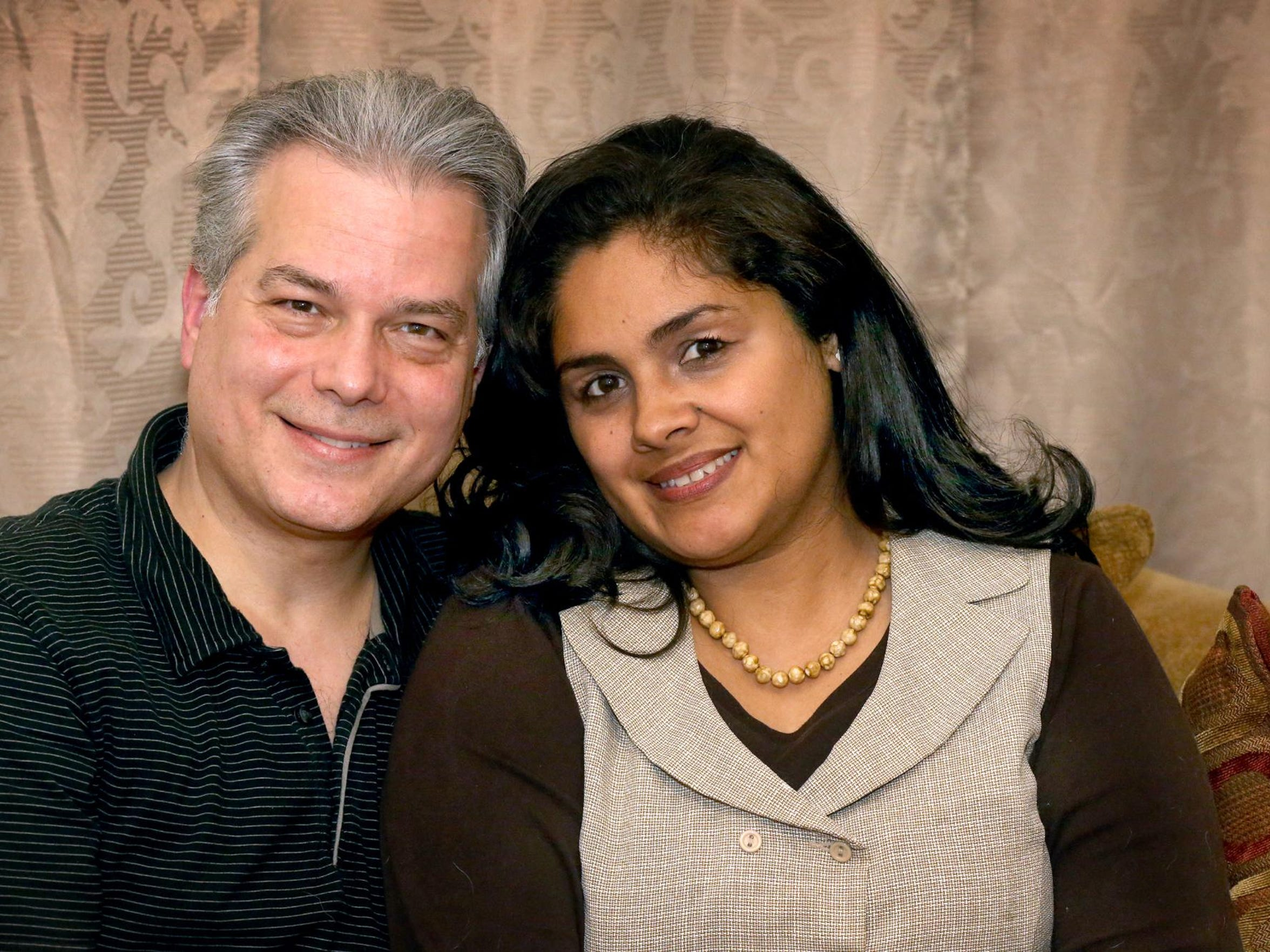 Anthony Yanis and his wife, Michelle Yanis, talk Wednesday