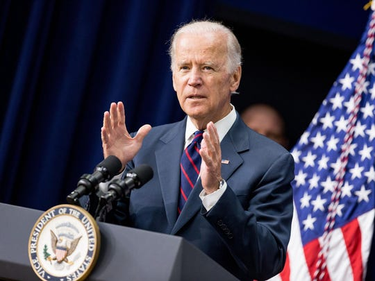 Vice President Joe Biden speaks at a White House Champions of Change Law Enforcement and Youth meeting, in the South Court Auditorium of the Eisenhower Executive Office Building on the White House complex in Washington last month.