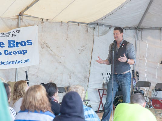 A hypnotist preforms at the Mystic Faire of Gettysburg on September 12th, 2015.