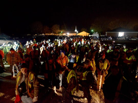 Hundreds of volunteers gathered last Sunday night to