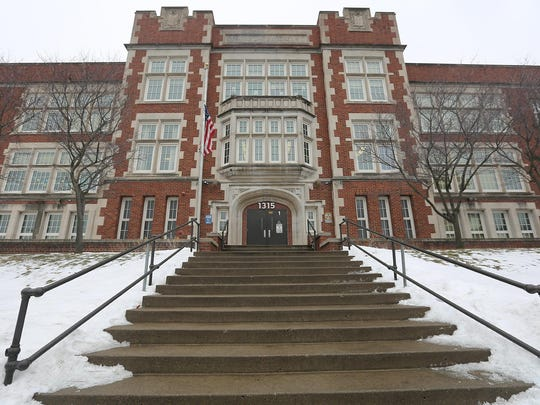The main entrance of Bancroft Elementary School in Minneapolis, Tuesday, Feb. 16, 2016. Since 2005, Hennepin County, Minneapolis Public Schools and mental health agencies have collaborated to provide students mental health services within the schools.