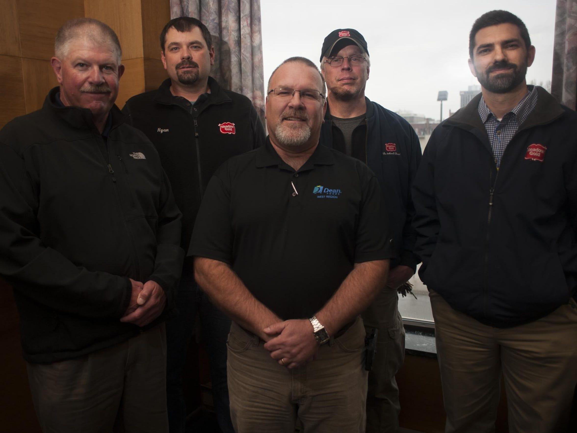 Left to right, Brian Herzog, Ryan Lynn, Todd Hansen,