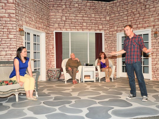 (L-R) Celina Lim, Nancy Holley, Susan Mathews & Michael Seitz perform at the Ice House Theatre