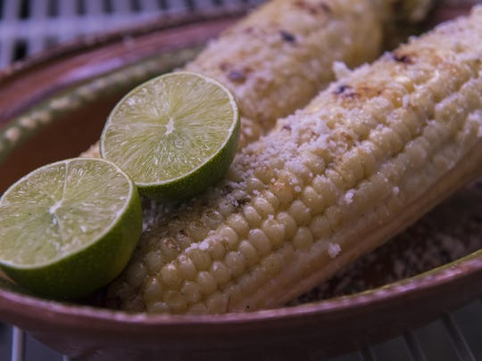 Mexican Street Corn from Left of Center.