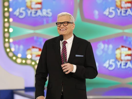 """Host Drew Carey appears on the set of """"The Price is Right."""""""