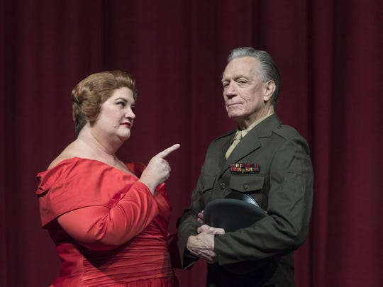 """Nancy Grissom Gregg and Doug Scarbrough in College of the Sequoias' production of """"White Christmas."""""""