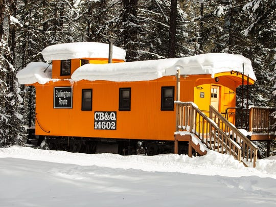 The Izaak Walton Inn features seven caboose cabins, three luxury and four standard.