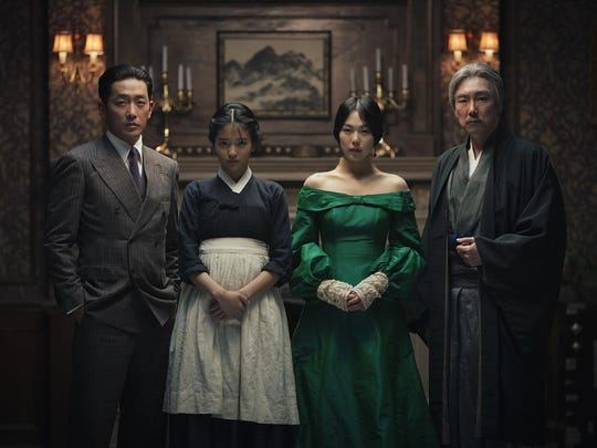 "Jung-woo Ha (from left), Kim Tae-ri, Kim Min-hee and Cho Jin-wong star in ""The Handmaiden."""