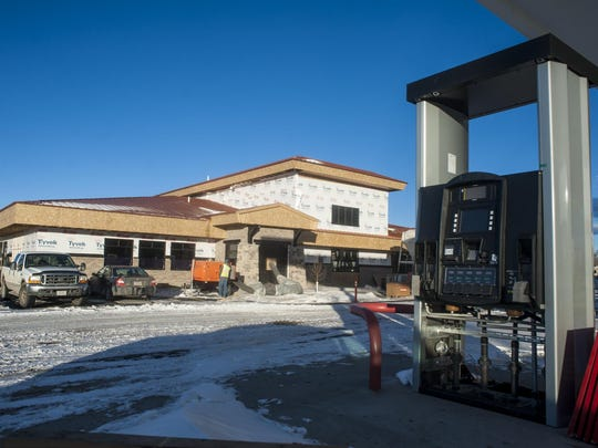 Construction continues on the block-large Town Pump convenience store and gas station at 1411 10th Ave. S. It's set to open in mid-February.