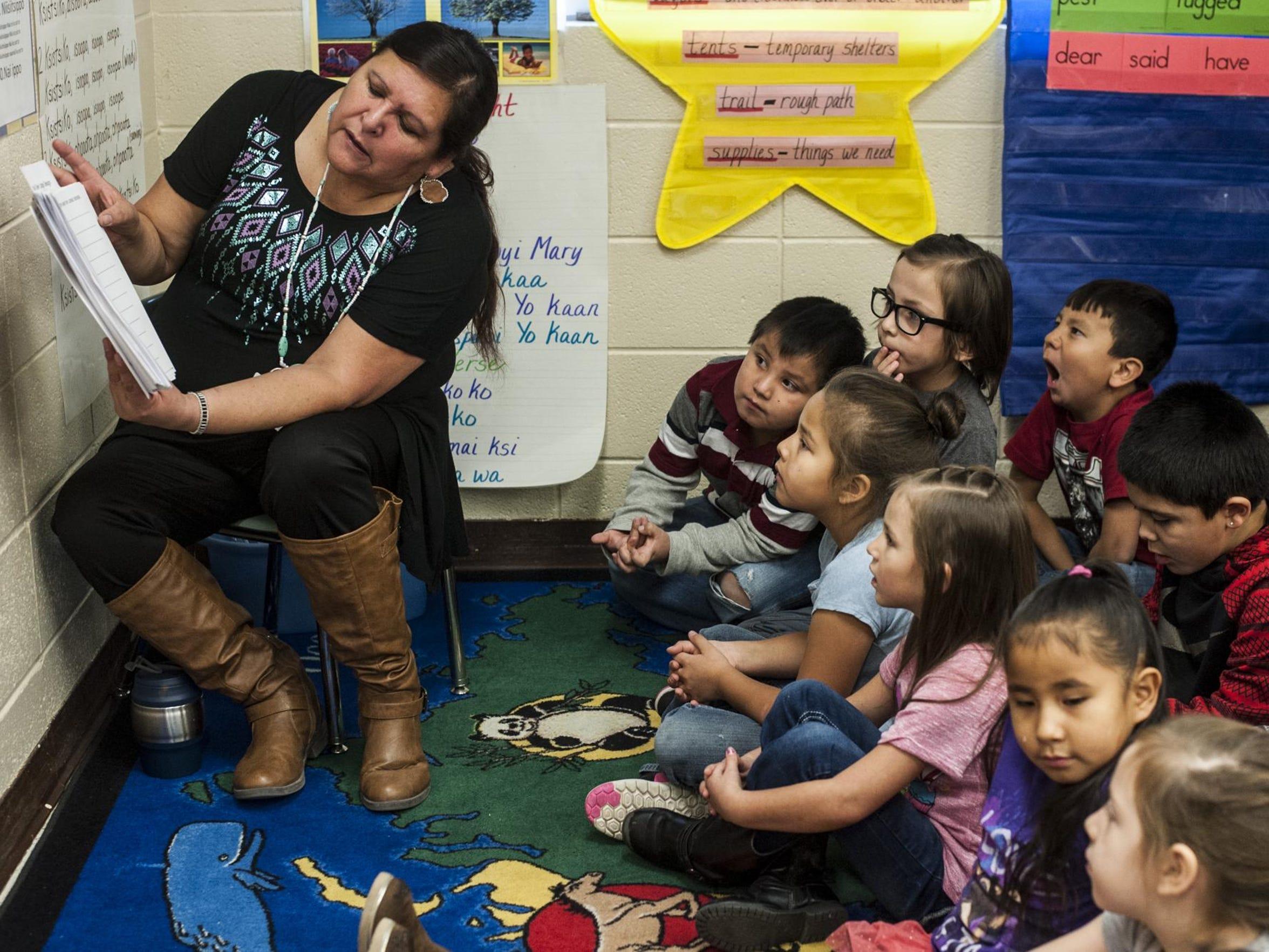 Blackfoot language immersion program