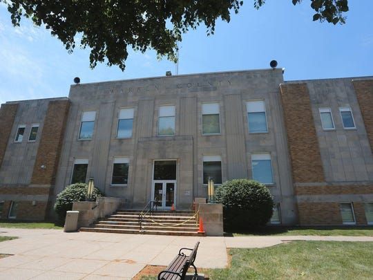 Demolish work on the Warren County Courthouse will