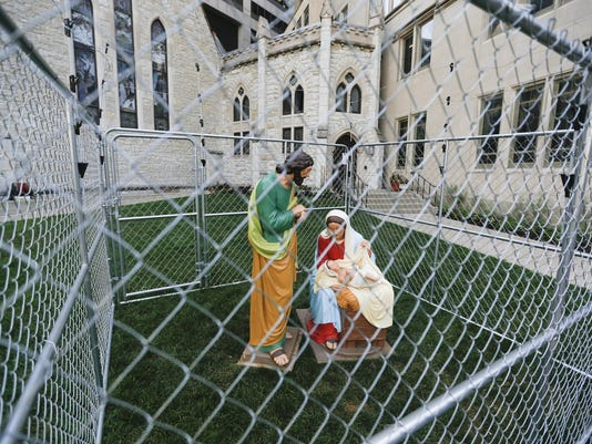 Caged Holy Family