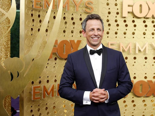 Seth Meyers arrives for the 71st Primetime Emmy Awards at the Microsoft Theater in Los Angeles on Sunday, Sept. 22, 2019. (Jay L. Clendenin/Los Angeles Times/TNS)