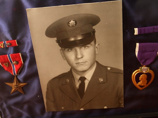 The Bronze Star and Purple Heart that were awarded posthumously to East Brunswick native Fred Bonner after he was killed in action in Vietnam.