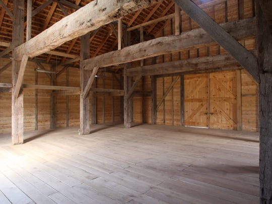 Interior of the new Dutch barn at the Rockingham Historic Site, Wednesday, April 15, 2015, in Franklin, NJ.