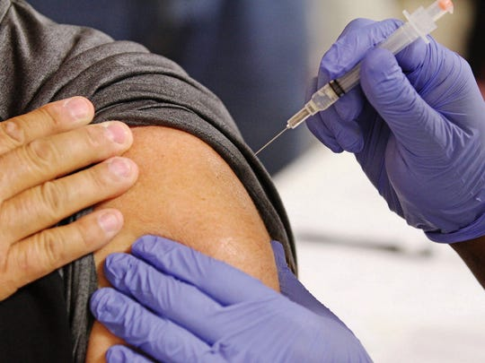 Michael Orrell, The El Dorado News-Times, via APWell into flu season, the CDC is still urging people to get the vaccination, which takes full effect after about two weeks.
