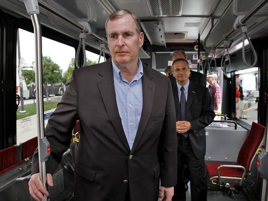 Ballard on BRT bus 2013