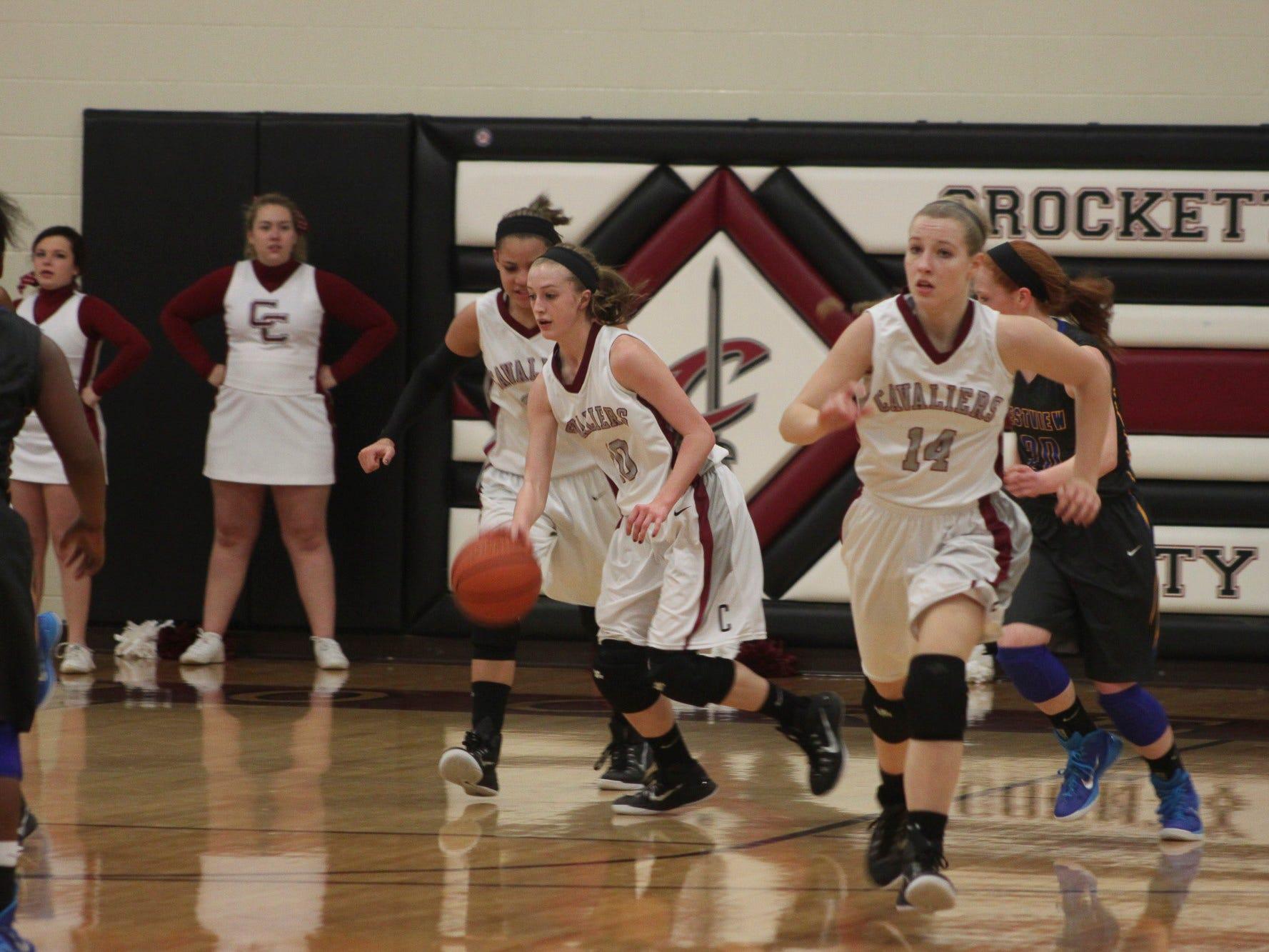 Elli Pratt, shown with the ball, has helped Crockett County's girls during a landmark season.