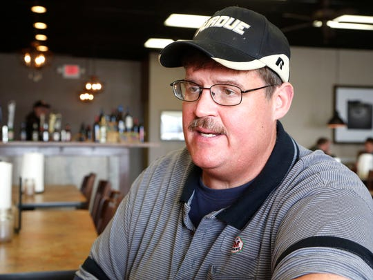 Owner Patrick Johnson talks Thursday, March 19, 2015, about the variety of barbecue meats served at D and R BBQ and Catering in Lafayette. Johnson said pork is king, but he said his customer base has increasingly developed a taste for beef brisket.