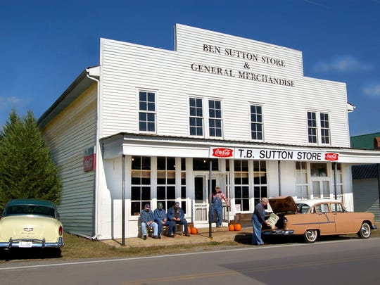The old-timey T.B. Sutton General Store in Granville
