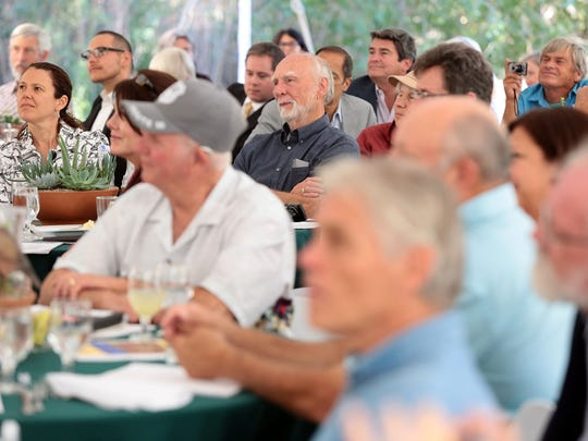 The audience listens as Senator Dianne Feinstein (D-Calif.) speaks on Thursday, November 6, 2014 during an event held at the Whitewater Preserve to celebrate the 20th anniversary of the California Desert Protection Act.