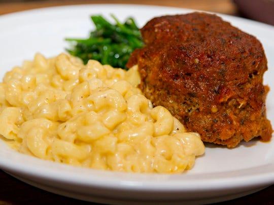 Balisage Bistro Chef Daniel Villanueva's meatloaf with mac 'n' cheese.