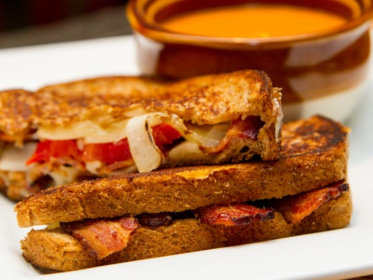 Mindy Reed's grilled cheese and tomato soup.
