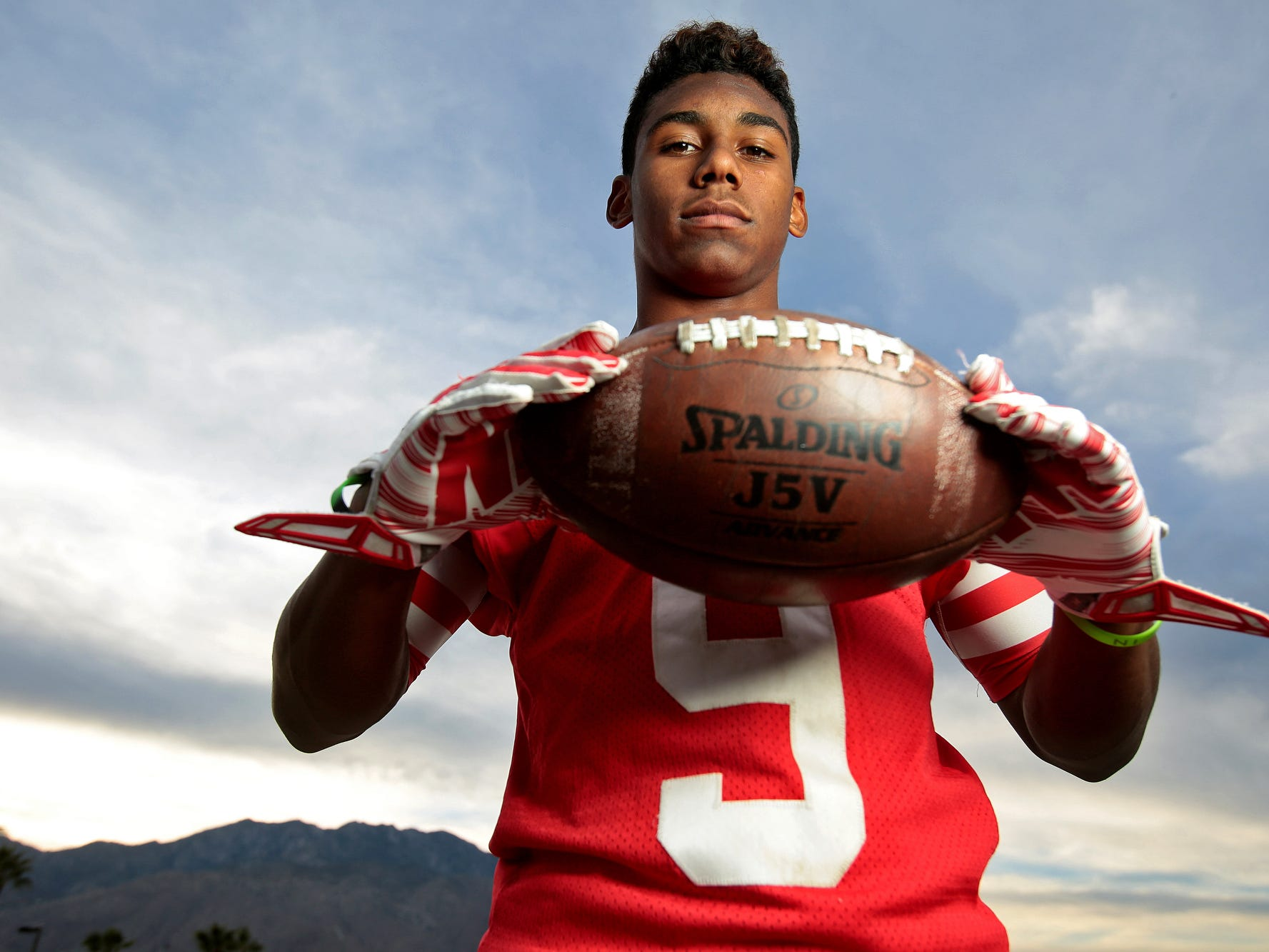 Palm Springs junior defensive back Franklin Miller returned two of his six interceptions for touchdowns this season for the champion Indians.