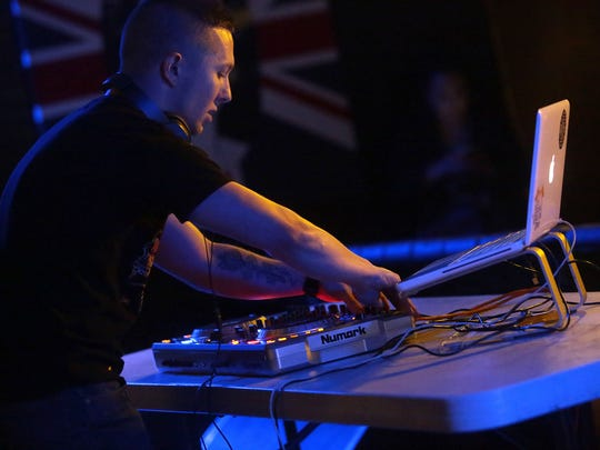 La Quinta-based EDM artist Alex Harrington performs under the pseudonym All Night Shoes during the second Tachevah Band Showcase on Wednesday at The Hood Bar and Pizza in Palm Desert. The event was free and open to all ages.