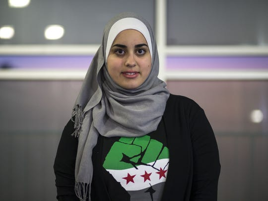 A portrait of Zana Alattar, an ASU student and president and founder of Students Organize for Syria, February 11, 2015, at the ASU Tempe Campus.