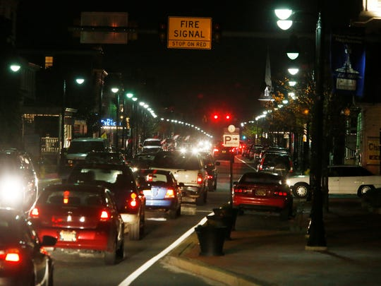 Evening rush-hour traffic makes its way along West Main Street in Middletown last week. Some Middletown-area residents are worried about the increase in traffic as more housing is built.