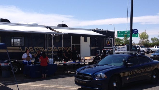 The Las Cruces Police Department will park its Mobile Operations Command center between the Hastings store and McDonald's restaurant this week. Officers will work out of the MOC from 8 a.m. Friday through Sunday afternoon and have around the clock patrols throughout the nearby business district.