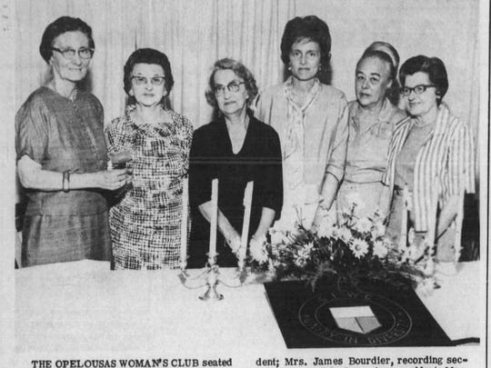 Edna Kurtz with the Woman's Club in 1967.